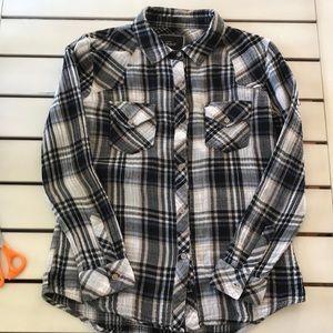 Rails Kendra Plaid Cotton Gauze Button Up Shirt